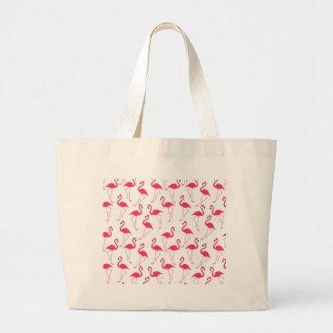 Beach Themed Flamingo Large Tote Bag