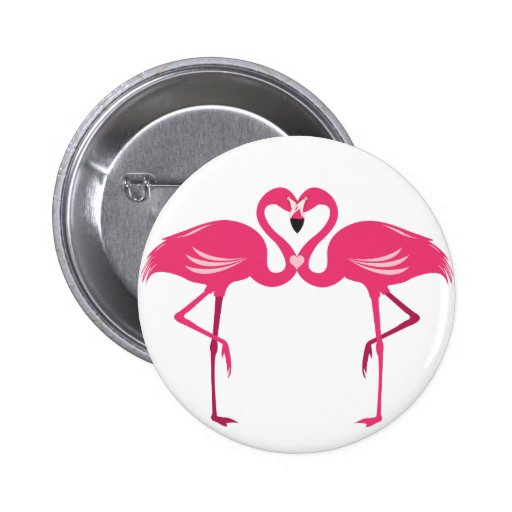 Flamingo Love Buttons