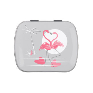 Flamingo Love candy tin