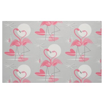Beach Themed Flamingo Love fabric large