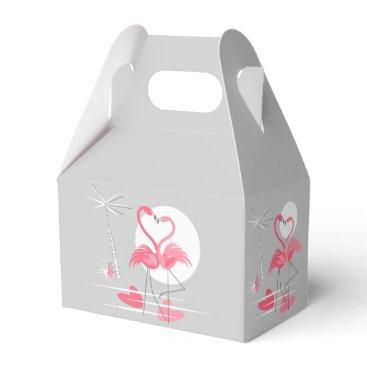 Beach Themed Flamingo Love favor box gable