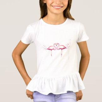 Flamingo Love Girls' Ruffle T-Shirt