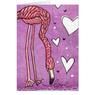 flamingo love greeting cards