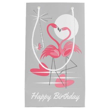 Beach Themed Flamingo Love Happy Birthday gift bag small