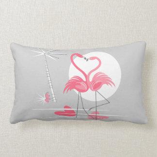 Flamingo Love hot pink back lumbar pillow