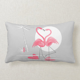 Flamingo Love hot pink back lumbar pillow