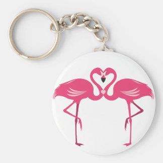 Flamingo Love Keychain