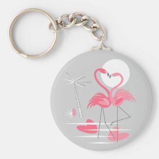 Flamingo Love keychain basic