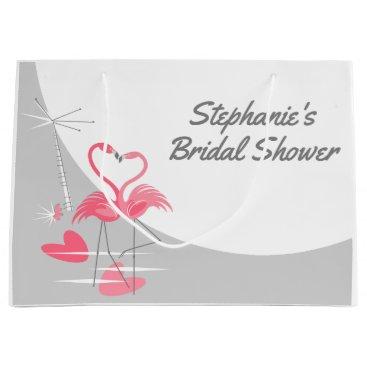 Beach Themed Flamingo Love Large Moon Bridal Shower large Large Gift Bag