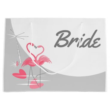 Beach Themed Flamingo Love Large Moon Bride gift bag large