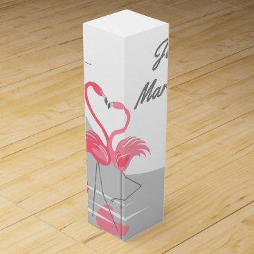 Beach Themed Flamingo Love Large  Moon Just Married! wine box