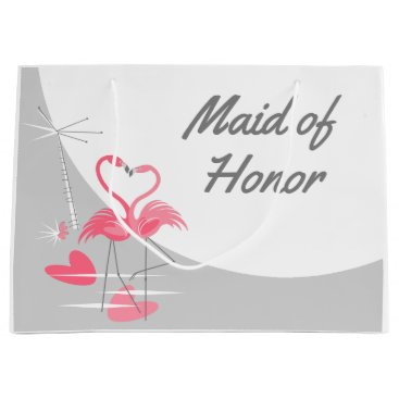 Beach Themed Flamingo Love Large Moon Maid of Honor large Large Gift Bag
