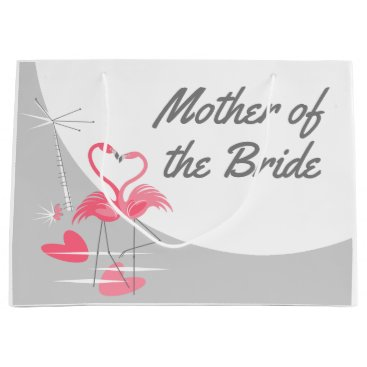 Beach Themed Flamingo Love Large Moon Mother of the Bride large Large Gift Bag
