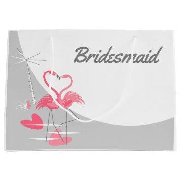 Beach Themed Flamingo Love Large Moon Name Bridesmaid large Large Gift Bag