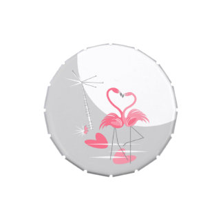Flamingo Love Large Moon snip snap tin
