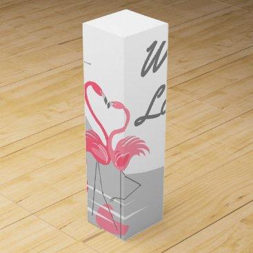 Beach Themed Flamingo Love Large Moon With Love wine box