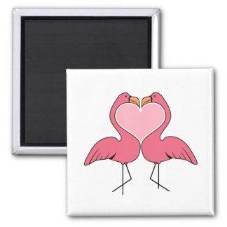 Flamingo Love Magnet