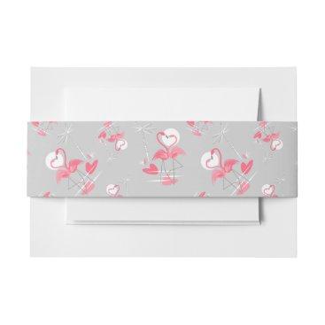 Beach Themed Flamingo Love Multi belly band landscape