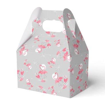 Beach Themed Flamingo Love Multi favor box gable