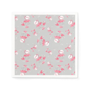 Flamingo Love Multi paper napkins