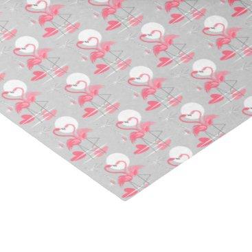 Beach Themed Flamingo Love Multi tissue paper tiled