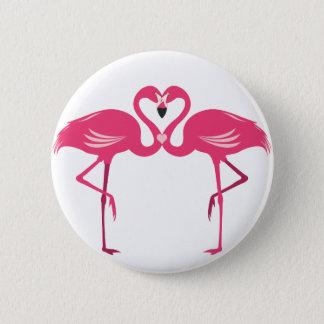 Flamingo Love Pinback Button