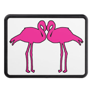 Flamingo Love Tow Hitch Cover