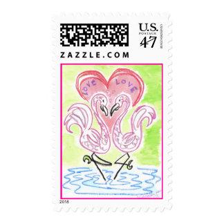 Flamingo Love Postage