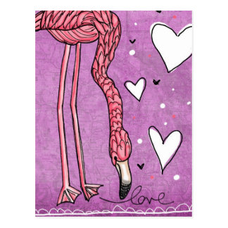 flamingo love postcards