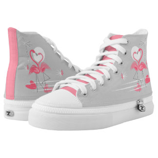 Flamingo Love Side high top shoes pink