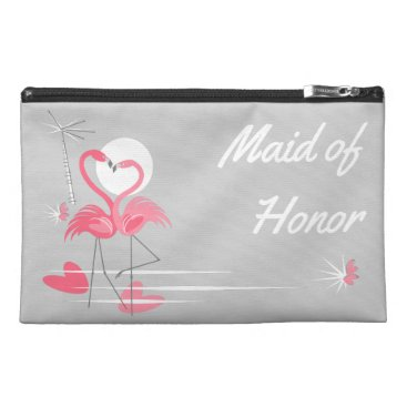 Flamingo Love Side Maid of Honor Travel Accessory Bag