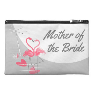 Flamingo Love Side Mother of the Bride Travel Accessory Bag