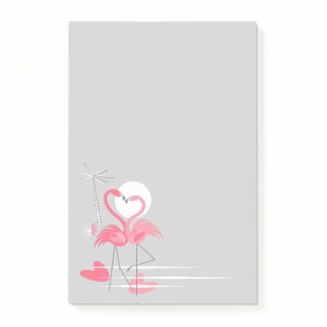 Flamingo Love Side post-it notes vertical