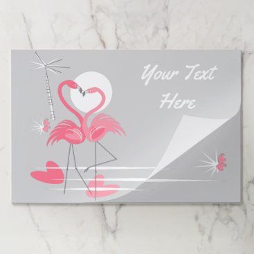 Beach Themed Flamingo Love Side Text tearaway placemat