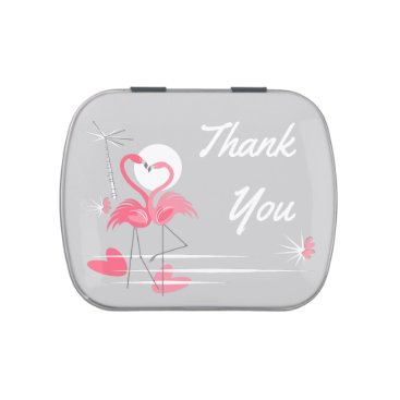 Beach Themed Flamingo Love Side Thank You candy tin
