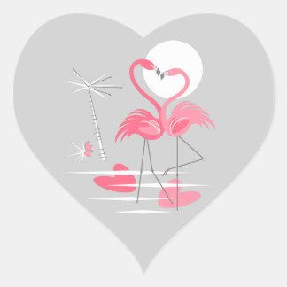 Flamingo Love sticker heart