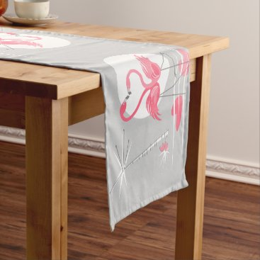 Beach Themed Flamingo Love table runner