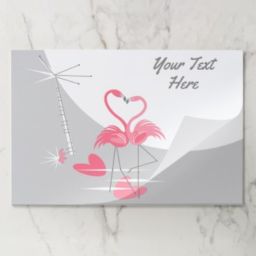 Beach Themed Flamingo Love Text tearaway placemat