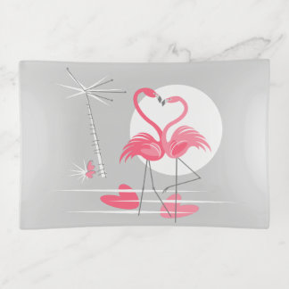 Flamingo Love trinket tray medium