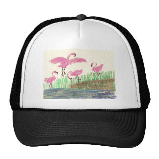 Flamingo Mash Mesh Hat