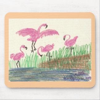 Flamingo Mash Mouse Pad