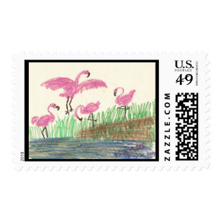 Flamingo Mash Stamp