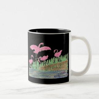 Flamingo Mash Two-Tone Coffee Mug