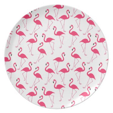 Beach Themed Flamingo Melamine Plate