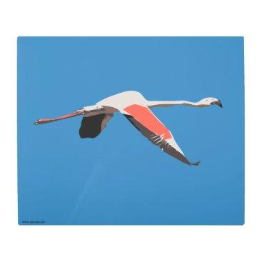 Art Themed Flamingo Metal Print