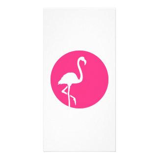 Flamingo moon card