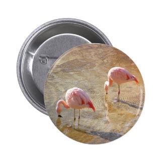 Flamingo Morning Button