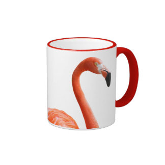 flamingo ringer coffee mug