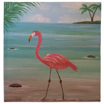Beach Themed flamingo napkin