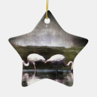 Flamingo Nights Christmas Tree Ornament